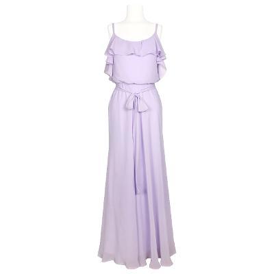 off shoulder maxi dress lavender